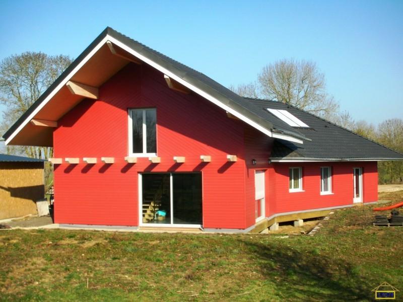 Maison d'habitation à Couy (18) Bardage bois massif peint en usine.JPG