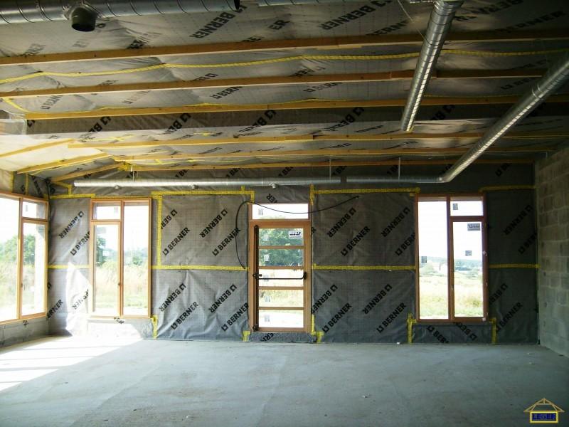 Bureaux et atelier du Sictom à St Honoré les Bains (58) Isolation intérieure en laine de bois avec pare vapeur.JPG